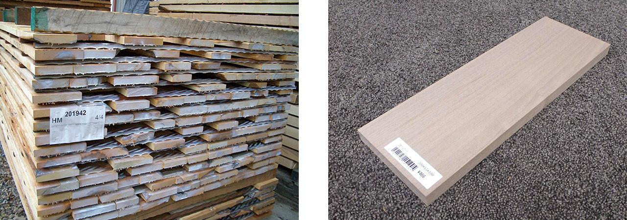 ほとんどのDIY用無垢木材は柾目で製作
